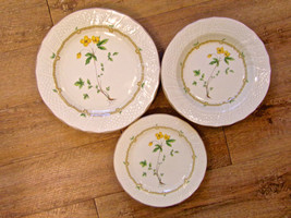 Mikasa Royalty Yellow Floral Dinner Salad Plate Soup Bowl Set Of Twelve - $27.72