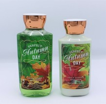 Set Bath & Body Works Perfect Autumn Day Body Lotion Shower Gel - $41.99