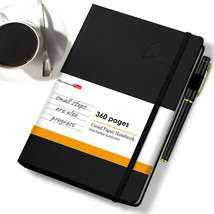 Faux Leather 360 Pages Lined Paper Journal with Pen Loop for Business an... - $24.67