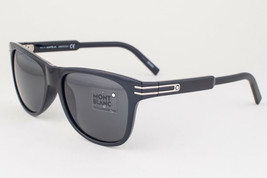 Mont Blanc Shiny Black / Gray Mirror Sunglasses MB641S 01A 641S  - $195.02