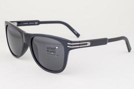 Mont Blanc Shiny Black / Gray Mirror Sunglasses MB641S 01A 641S - $195.02