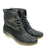 Tommy Hilfiger Collins Black Rubber Mens Waterproof Duck Boots US 9 EU 42 - $54.40