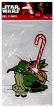"""DISNEY 7"""" x 5.25"""" STAR WARS GEL CLING Holiday/Christmas YODA W/CANDY CAN... - $3.56"""