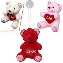 Plush Valentines Bear w/ Window Hanging Suction Cup Wholesale (Pack of 24) - $39.55