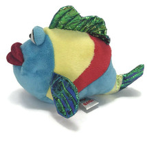 Webkinz Ganz Pucker Fish Plush Blue Red Metallic Stuffed Animal No Code image 2
