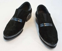 New Encore Dress Shoes by Fiesso Blue/Black Leather/Suede, FI 8619 - $147.47