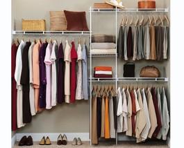 NEW Rubbermaid Configurations Custom Closet Organiser Shelf Hanger Kit W... - €129,60 EUR