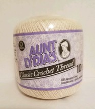 Aunt Lydias Classic Crochet Thread 10 NATURAL 100% Cotton 1.5 mm 7 400 Y... - ₹357.63 INR
