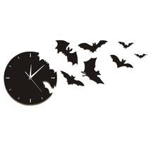 A Bat Clock From The Escape Clock Halloween Bat Silhouette Wall Clock Sc... - £29.45 GBP