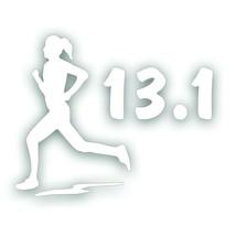 Marathon 13.1 GIRL WOMAN RUNNER running decal sticker for Olympic mile W... - $8.83