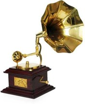 Decorative Home Hotel  Antique Showpiece Brass Vintage Dummy Gramophone - $41.13