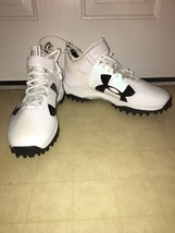 New Men's Under Armour White Black Cleats Size 14 1/2 - $59.35