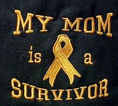 Orange Ribbon Sweatshirt M Awareness My Mom is a Survivor Black Crew Nec... - $28.10
