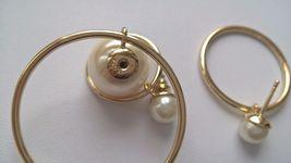 Authentic Christian Dior Mise En Dior Tribal Hoop Pearl Earrings  image 7