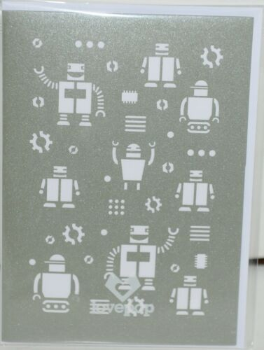 Lovepop LP1178 Robots Pop Up Card   White Envelope Cellophane Wrapped