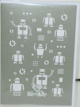 Lovepop LP1178 Robots Pop Up Card   White Envelope Cellophane Wrapped image 1
