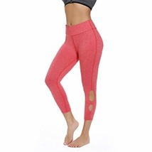 fc0b0010f19422 LETAOTAO High Waist Yoga Pants for Women Plus Size L, red - $16.50