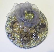 "Handmade Brooch ""Keys to all doors"" Pin Jewelry Jeans Ribbon Accessory - $65.00"