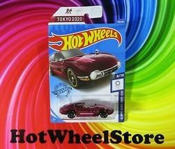 2020  Hot Wheels   Dark Red  TOYOTA 2000 GT  Tokyo Olympic Card #184   3... - £2.35 GBP