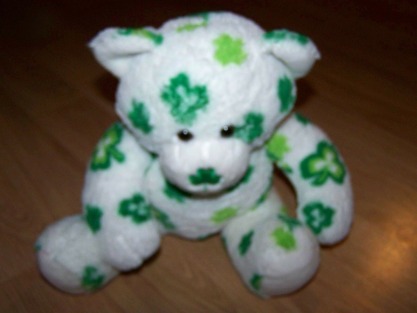 Primary image for Build A Bear Workshop BABW Green Clovers St. Patrick's Day Shamrock Plush EUC
