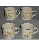 1977 Set (4) Royal Doulton SANDSPRITE PATTERN Cups or Mugs MADE IN ENGLAND - $19.79