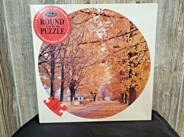 """Whitman Puzzle """"Country Lane, Nh) Round (650) Piece Puzzle New Vintage - $39.95"""