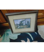 Picture Print-Glass 2 Matts-1985 Burton Dye-Ducks-Geese-Farm House-Cast ... - $8.99