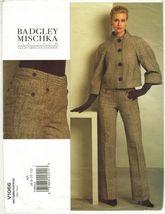 Misses Vogue American Designer Badgley Mischka Jacket Pants Sew Pattern ... - $16.99