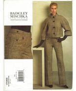 Misses Vogue American Designer Badgley Mischka Jacket Pants Sew Pattern ... - $16.99