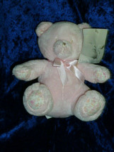 LITTLE WONDERS/SEARS bear pink , pink satin bow, RATTLE, stitched eyes N... - $148.49