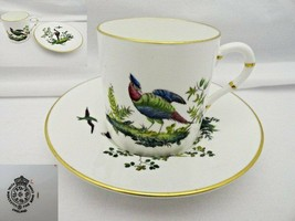 Royal Worcester Pheasant Demitasse Cup & Saucer Fine Bone China - $30.99