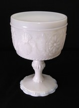 Vintage Indiana Sandwich Milk Glass Pedestal Comport Candy Dish With Smo... - $14.95