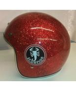 New Red Metal Flake Retro Vintage Scorpion Snowmobile Helmet - $115.00