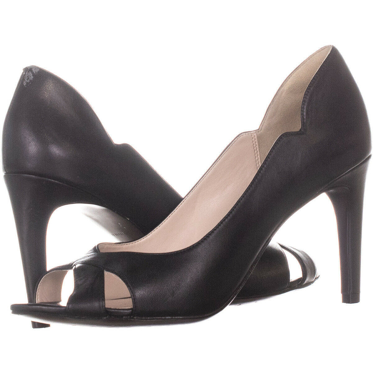 24e8cd73aa Cole Haan 2568 Open Toe Criss Cross Heels, Black, 9.5 US - $67.19