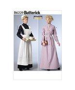Butterick Patterns B6229E50 Long Dress, Apron and Ruffled Headpiece, E5 ... - $14.70