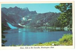 WA Cascade Mountains Snow Lake Vtg Postcard Washington State - $4.99
