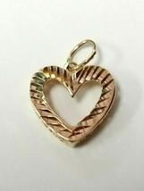 14kt michael anthony diamond cut heart pendant - $54.99