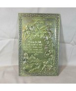 Vintage 1960's Jack And Jill Nursery Rhyme Brass Embossed Wall Plaque Ma... - $17.75