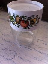 Retro Vintage Pyrex Glass Spice Jar Plastic White Lid w/ Spice O' Life P... - £6.05 GBP