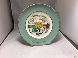 "Enoch Wedgwood England Christmas 1980 ""Country Christmas""  8 ¾"" Avon plate - $3.95"