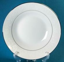 4 Noritake Ranier Soup Bowls 6909 White Flowers Platinum Trim Fine China - $36.00