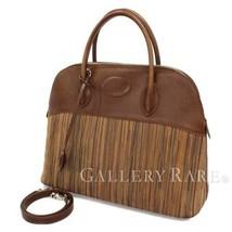 HERMES Bolide 35 Vibrate Brown Handbag Shoulder Bag #D Authentic 5473007 - $2,596.93