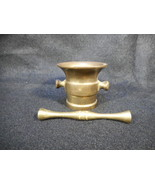 Vintage Heavy Brass Small Pharmacy Apothecary Mortar and Pestle - $24.74