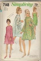 Vintage Sewing Pattern Simplicity 7148 Mod Dresses 1967 Size 10 Bust 31 - $6.92