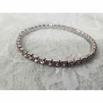Pink Crystal Rhinestone stretch Bracelet - $7.91