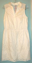 """Elle """"Vibrant Voyage"""" Ivory Sleeveless Dress with Cut Out Accents NWT$60 Sz M - $37.99"""