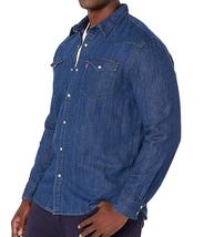 Levi's Men's Big & Tall Barstow Western Pearl Snap Casual Denim Dress Shirt image 8