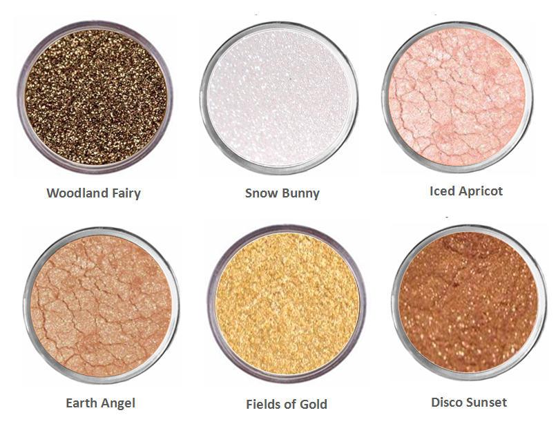 Primary image for Sparkly Brown Gold Eye Shadow Mineral Eyeshadow Bare White Eye Makeup Naked