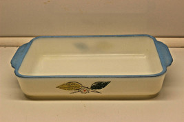 Vintage Fire King Biscayne Blue Gold 410 Casserole Dish - $18.99