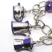 925 Silver Necklace, Amethyst, Mocha, Coffee Maker, Teapot, Pendants tiles image 4